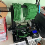 3d printer used for creating protective masks during the covid-19 epidemic