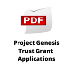 Project Genesis Trust Grant Applications Icon Link to PDF