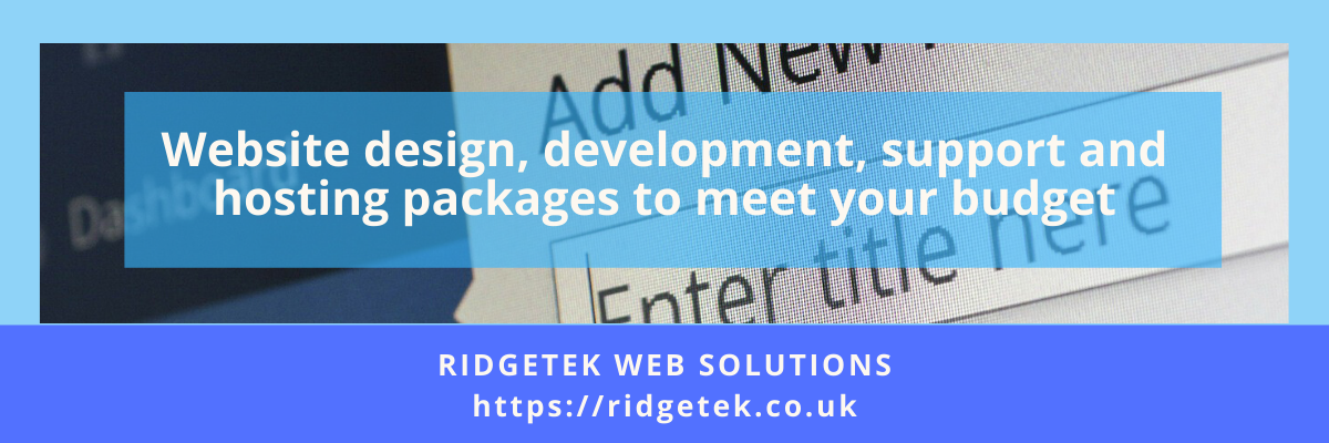RidgeTek Advert for Web Services
