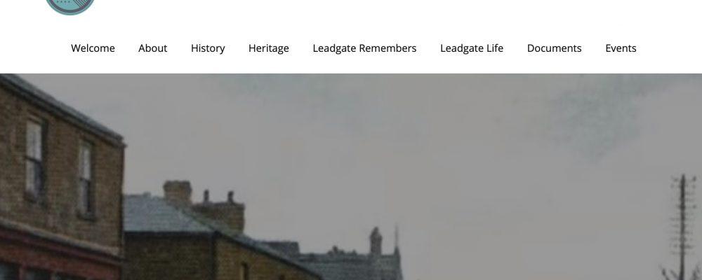 Leadgate Community History Club – Website